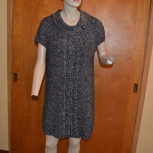 Style & Co Knit Gray Sweater Dress Size L